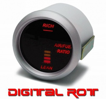 Gemisch Anzeige Air Fuel Zusatz Instrument digital Magic rot