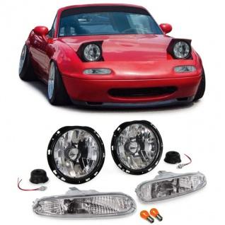 Klarglas Scheinwerfer mit Blinker chrom Set für Mazda MX5 NA 90-98
