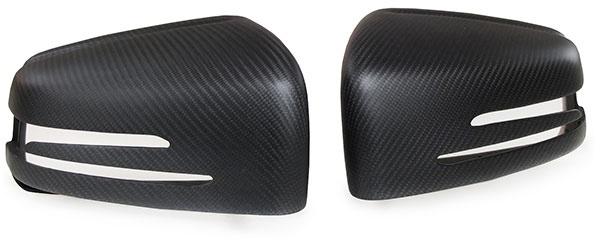 Carbon matt Spiegelkappen zum Austausch für Mercedes A Klasse W176 B W246 C W204 - Vorschau 2