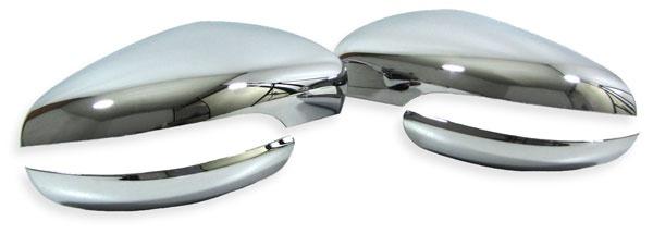 Spiegel Kappen Abdeckungen chrom 4 teilig für VW Golf 6 ab 08 + Touran ab 10 - Vorschau 1
