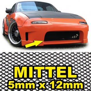 Aluminium Gitter Renngitter Wabengitter Racegitter 100X40cm 5x12mm Schwarz