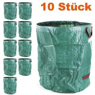RAMROXX Gartentasche Laubsack Abfall Sack faltbar 76×67cm XXL 265L grün 10 Stück