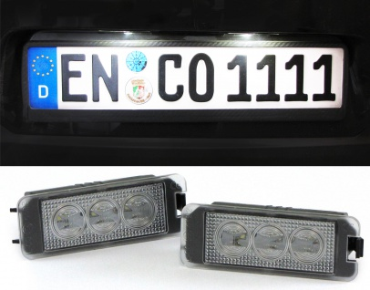 LED Kennzeichenbeleuchtung High Power weiß 6000K für VW Polo / Derby ab Bj. 00