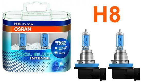 Osram Cool Blue Intense H8 35W 12v Halogen Leuchtmittel 2 Stück IM Duopack