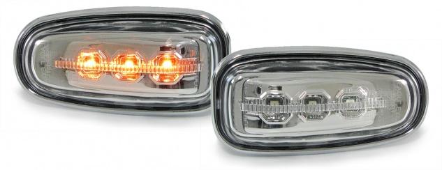 LED Seitenblinker Klarglas chrom für Mercedes Sprinter Vito E W210 SLK R170