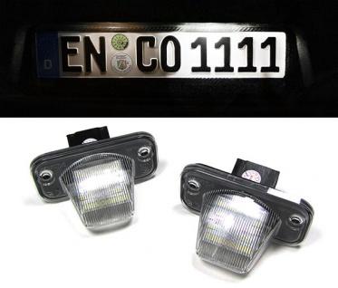 *** LED Kennzeichenbeleuchtung weiß 6000K für VW T4 IV Bus Transporter 90-03