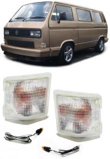 Blinker weiß mit Standlicht für VW Bus Transporter T2 T3 79-92