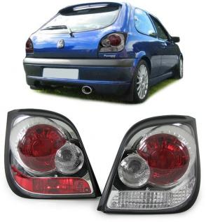 Klarglas Rückleuchten chrom für Ford Fiesta 89-95