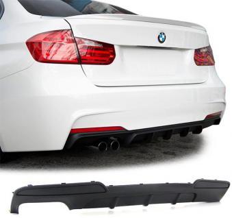 Heck Diffusor Doppelrohr links Performance Look für BMW 5er F10 Limousine ab 10 - Vorschau 2