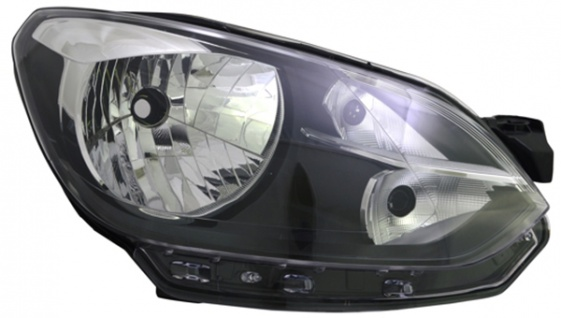 H4 Scheinwerfer schwarz rechts TYC für VW Up 11-