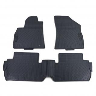 Premium Gummi Fußmatten Set 3-teilig Schwarz für Peugeot 3008 ab 09