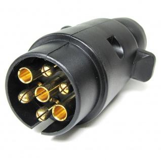 Auto Anhänger Adapter Stecker 7 polig ISO 1724 für 12v schwarz