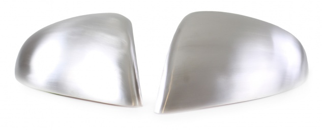 Aussen Spiegelkappen Abdeckungen Cover Alu matt für VW Touareg C2 7P5 ab 10