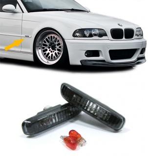 Klarglas Seitenblinker schwarz für BMW 3ER E46 98-03