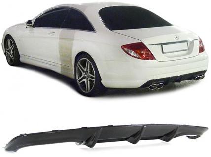 Carbon Heck Diffusor Einsatz für AMG Stoßstange für Mercedes CL Coupe C216 ab 06