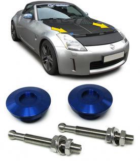 Alu Motorhauben Schnellverschluss Verriegelung Rennsport blau - Vorschau 2