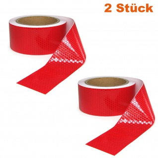 2x Signal Warn Absperr Band PVC selbstklebend reflektierend rot 5cmx10m