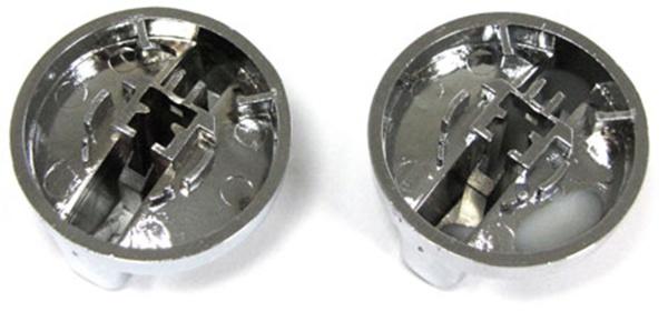 Dreh Schalter Regler für Lüftung und Heizung chrom 2 Stück für BMW 3ER E36 - Vorschau 4
