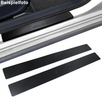 Edelstahl Einstiegsleisten Exclusive schwarz für Peugeot 406 Coupe 97-04