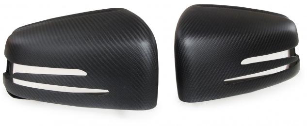 Carbon matt Spiegelkappen zum Austausch für Mercedes A Klasse W176 B W246 C W204