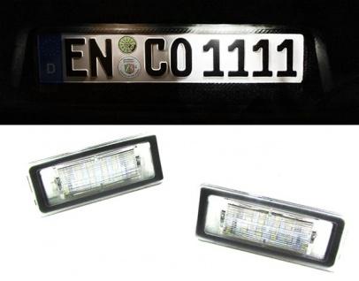LED Kennzeichenbeleuchtung weiß 6000K für Audi TT Coupe Roadster