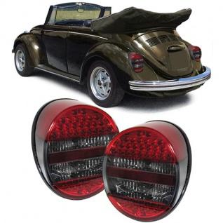 LED Rückleuchten rot schwarz smoke für VW Käfer ab 72