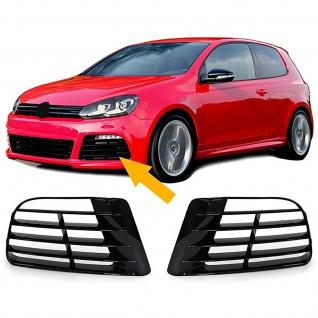 Blenden Lüftungsgitter für R20 Stoßstange Paar für VW Golf 6 5K1 09-13