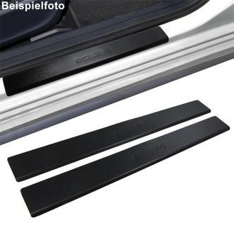 Edelstahl Einstiegleisten EXCLUSIVE Black für Renault Megane 2 Coupe 04-10 - Vorschau 2