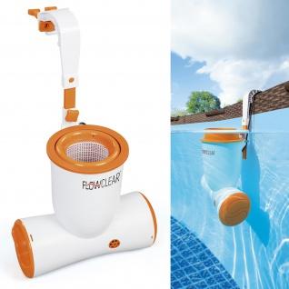 BESTWAY 58462 Einhängeskimmer Pool Skimmer 2in1 Filterpumpe Reinigung 2.574 l/h