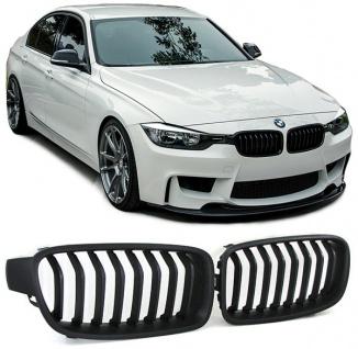 Sport Nieren Grill schwarz matt für BMW 3ER F30 F31 Limousine Touring AB 11