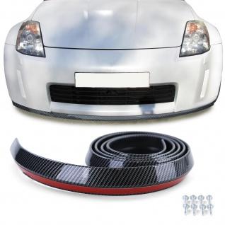 Front Spoiler universal flexibel 2, 5mx4, 5cm Carbon Look