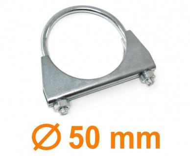 "Auspuff U Bügelschelle Rohrschelle universal 2"" 50mm M8 1 Stück"