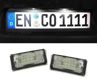 LED Kennzeichenbeleuchtung weiß 6000K für BMW 3ER E46 Limousine Touring 98-03