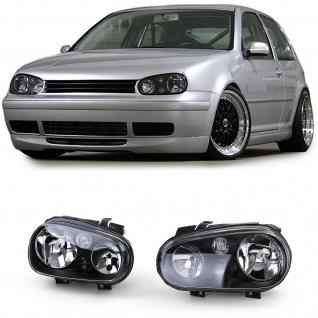 Klarglas Scheinwerfer H7 H1 H3 mit Nebel Schwarz für VW Golf 4 97-03