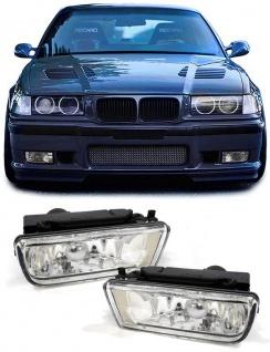 Klarglas Nebelscheinwerfer Chrom für BMW E36 auch M3
