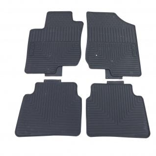 Premium Gummi Fußmatten Set 4-teilig Schwarz für Hyundai i30 FD 07-11