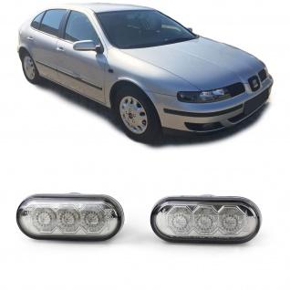 LED Seitenblinker Chrom Smoke für Seat Alhambra Cordoba Ibiza 2 Leon Toledo 1