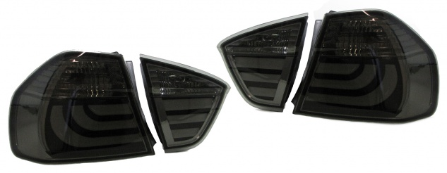 LED Lightbar Rückleuchten Schwarz Smoke für BMW E90 04-08
