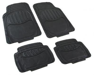 Universal Auto Gummi Fußmatten Set NBR 4-teilig zuschneidbar schwarz - Vorschau 4
