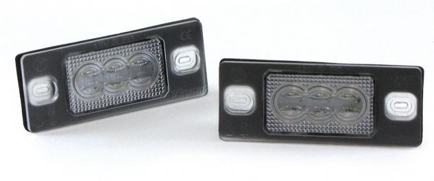 LED Kennzeichenbeleuchtung High Power weiß 6000K für VW Golf 4 IV 5 V 6 VI 7