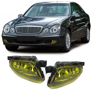 Klarglas Nebelscheinwerfer Gelb für Mercedes E Klasse W211 02-06
