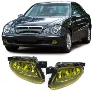 Klarglas Nebelscheinwerfer H11 Gelb Paar für Mercedes E Klasse W211 02-06