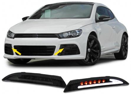 Klarglas LED Blinker mit Standlicht schwarz smoke für VW Scirocco ab 08
