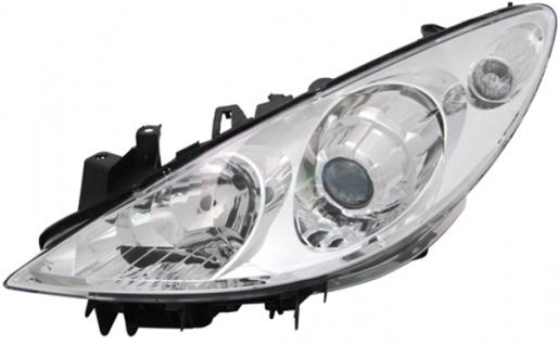 H1 / H7 Scheinwerfer links TYC für Peugeot 307 CC 3B 05-