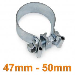 Auspuffschelle Rohrschelle Breitbandschelle universal verstellbar 47mm - 50mm