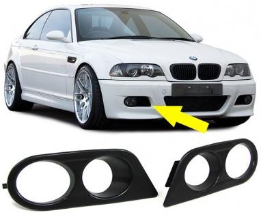 Nebelscheinwerfer Cover Blenden mit Belüftung für Stoßstange BMW 3ER E46