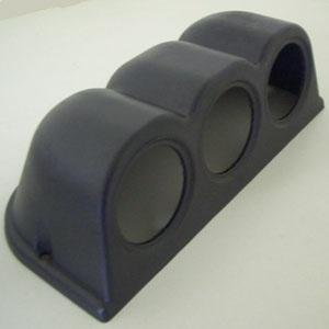 3ER Halterung für 52mm Zusatz Instrumente schwarz