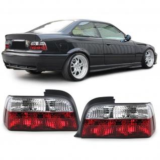 Klarglas Rückleuchten Rot Weiss Klar für BMW 3er E36 Coupe Cabrio 90-99