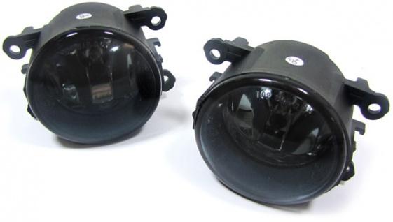 Klarglas Nebelscheinwerfer schwarz smoke für Nissan Note + Kubistar