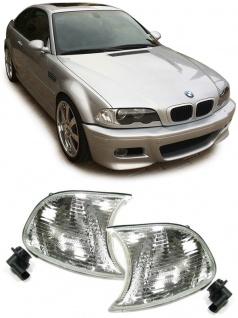 Blinker weiß klar Kristall Paar für BMW 3ER E46 Coupe Cabrio 98-01